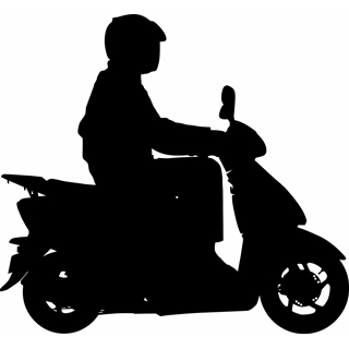 Motor Scooter Clipart - Clipart Kid