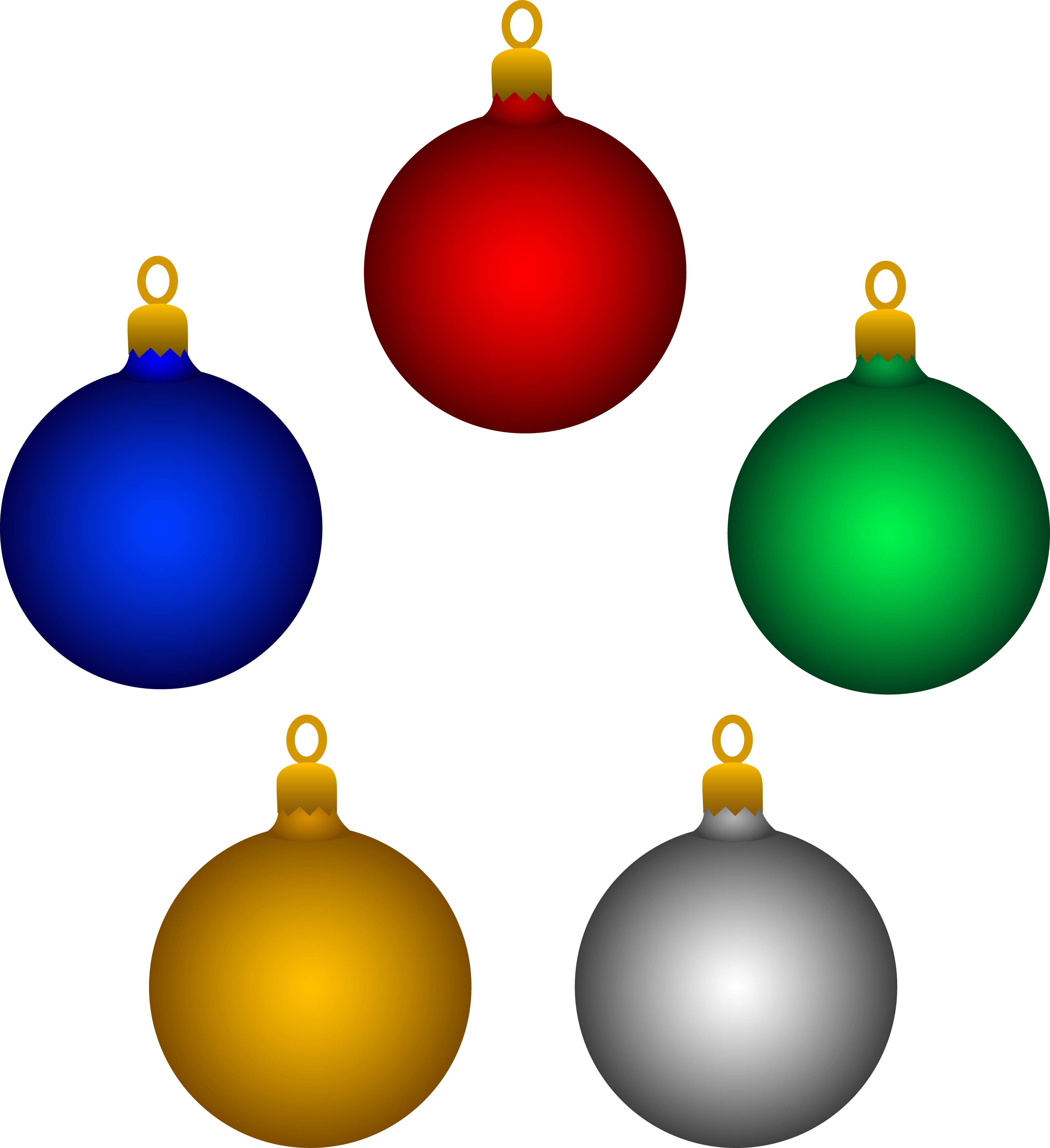 Round Christmas Clipart - Clipart Kid