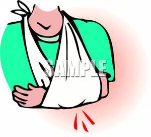 Person S Arm In A Cast   Royalty Free Clipart Picture