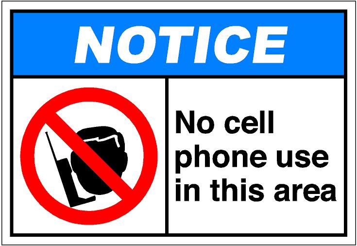 Pics Photos   No Cell Phones Allowed Clip Art