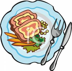 Plate Of Food Clipart A Plate Food Containing Meat And Vegetables