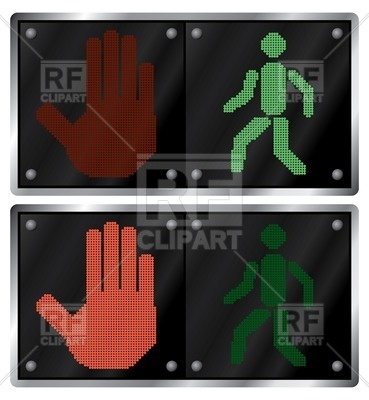 Traffic Light For Pedestrians 32451 Download Royalty Free Vector