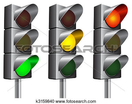 Traffic Lights  View Large Clip Art Graphic