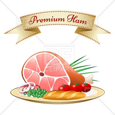 Vegetables On Plate 76166 Download Royalty Free Vector Clipart  Eps