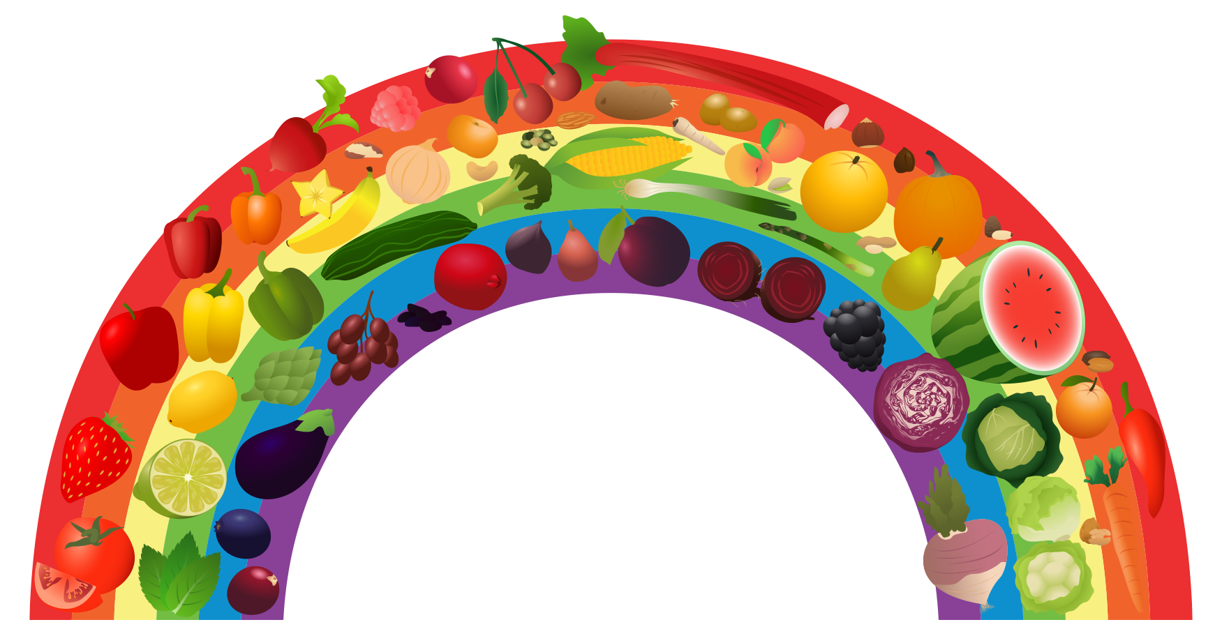 View Rainbow 1 Png Clipart   Free Nutrition And Healthy Food Clipart