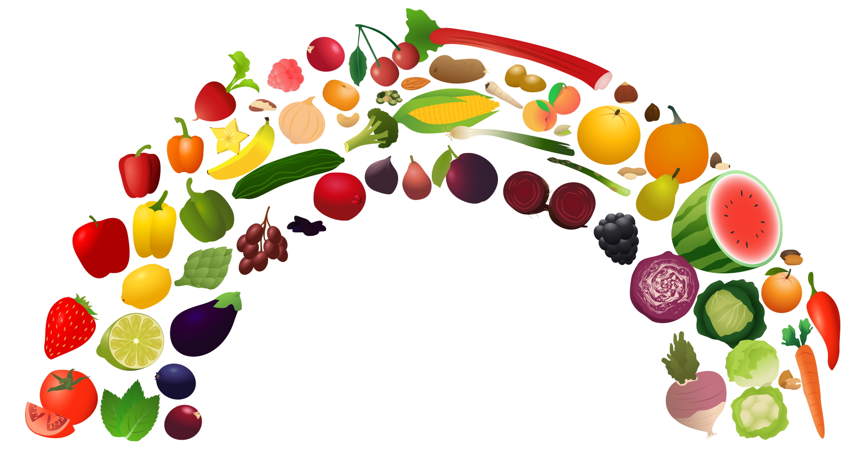 View Rainbow 2 Png Clipart   Free Nutrition And Healthy Food Clipart