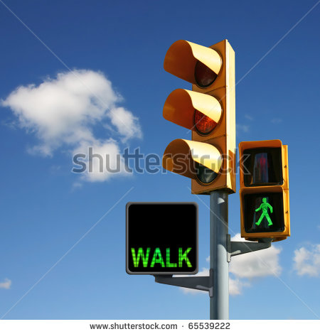 Walk Sign Man Traffic Lights With Walk And