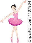Cartoon Of A Ballerina Girl Dancing Royalty Free Vector Clipart By