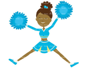 Cheerleading Clipart Black And White Toe Touch Cheerleader Clipart