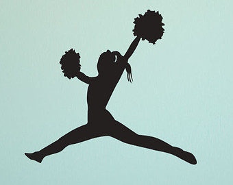 Cheerleading Clipart Toe Touch Cheerleader Toe Touch Jump