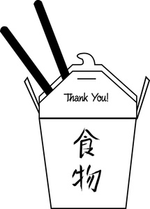 Chinese Take Out Clipart Image   Carton Of Chinese Food In A Take Out