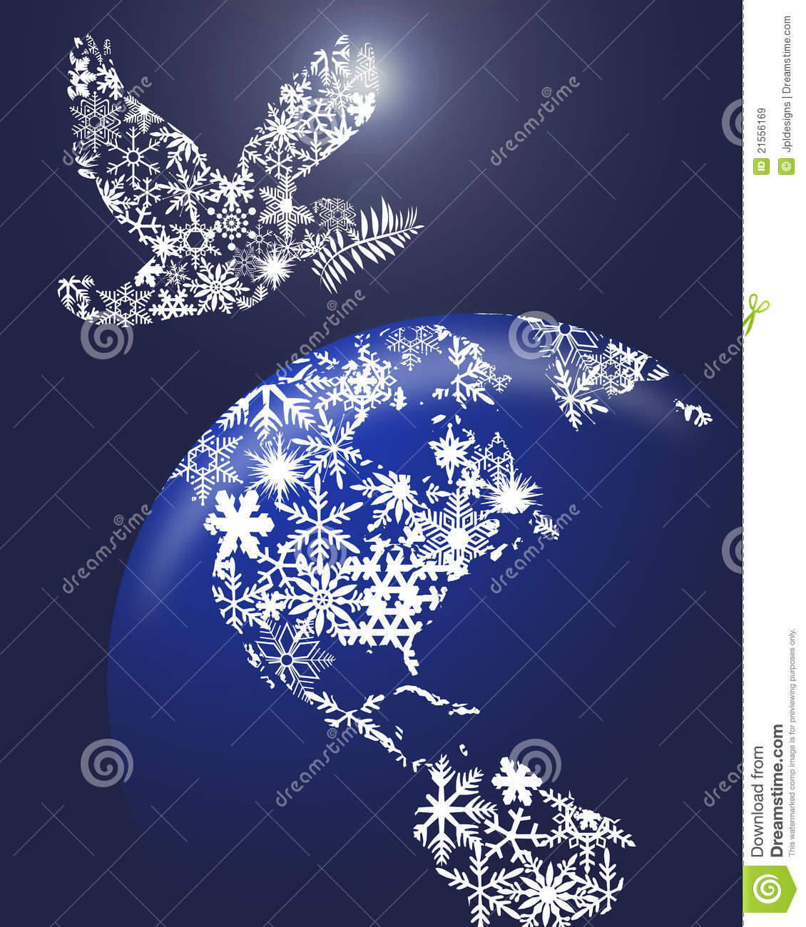 Christmas Peace Dove On Earth Royalty Free Stock Images   Image