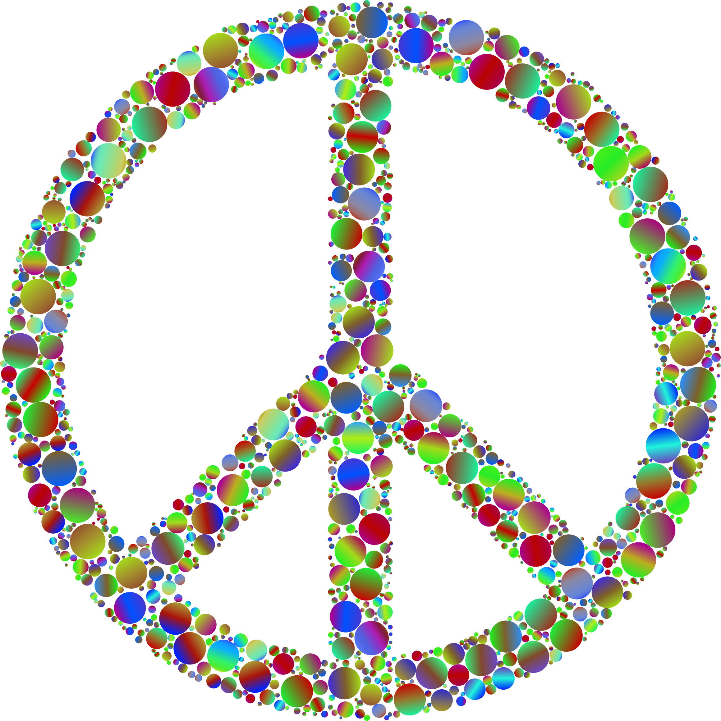 Colorful peace sign backgrounds