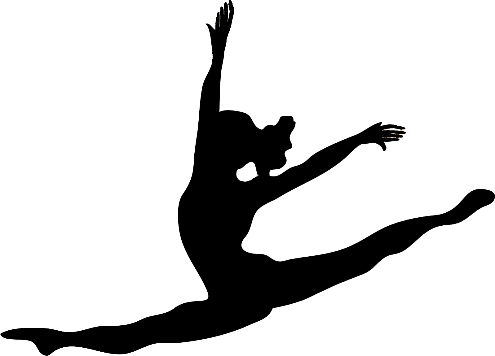 cheerleader toe touch clipart clipart suggest
