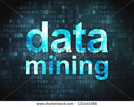 Data Concept  Pixelated Words Data Mining On Digital Background 3d