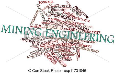 Drawing Of Word Cloud For Mining Engineering   Abstract Word Cloud For