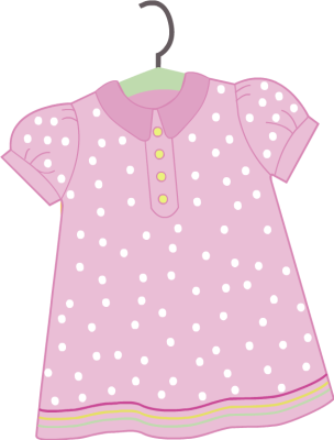Baby Girl Clothes Clipart