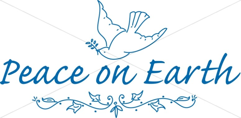 Peace On Earth Dove And Flourish