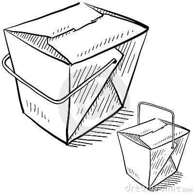 Take Out Food Clip Art Chinese Takeout Boxes