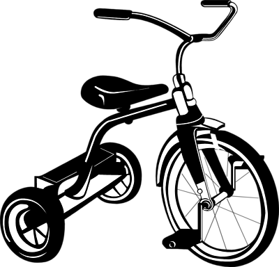 Tricycle Black And White Clipart - Clipart Suggest