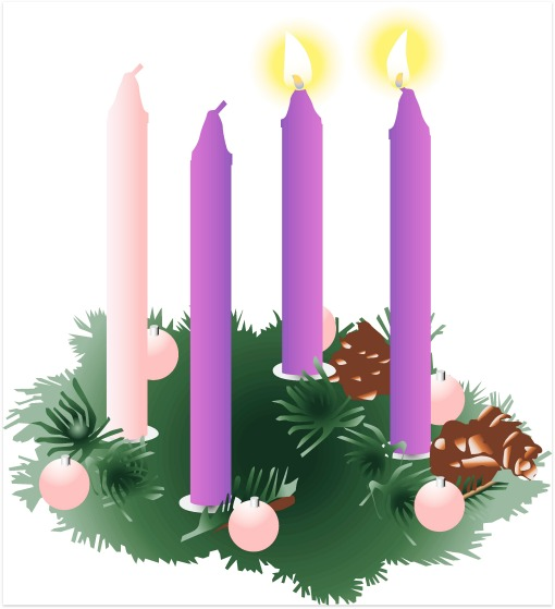Image result for free photo Advent wreath two candles