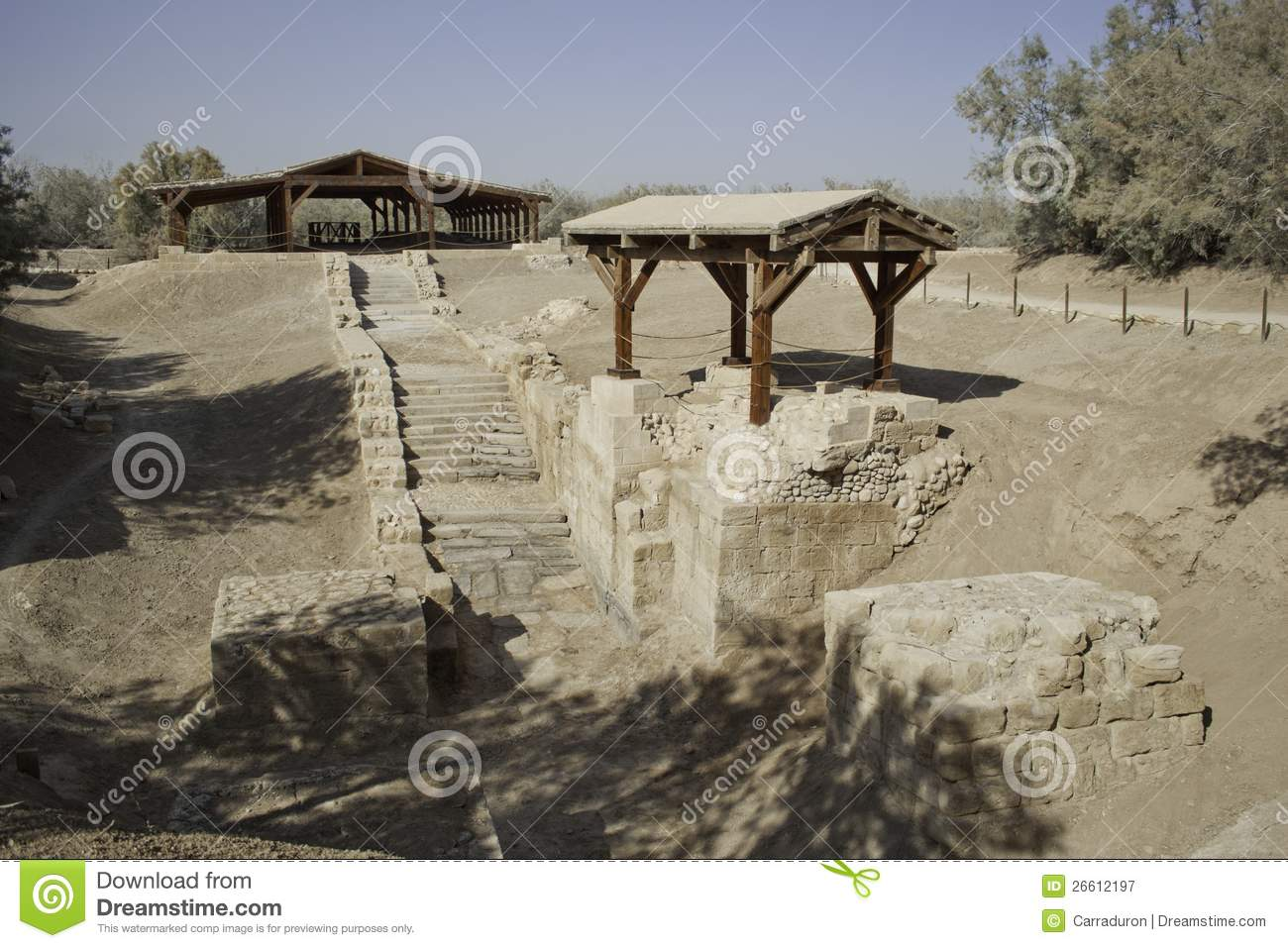 Baptism Site In Jordan River Royalty Free Stock Photography   Image