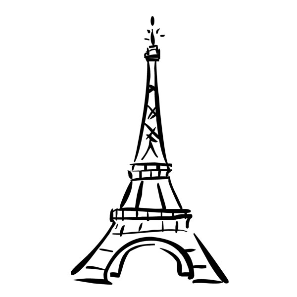 Paris Black And White Clipart - Clipart Suggest