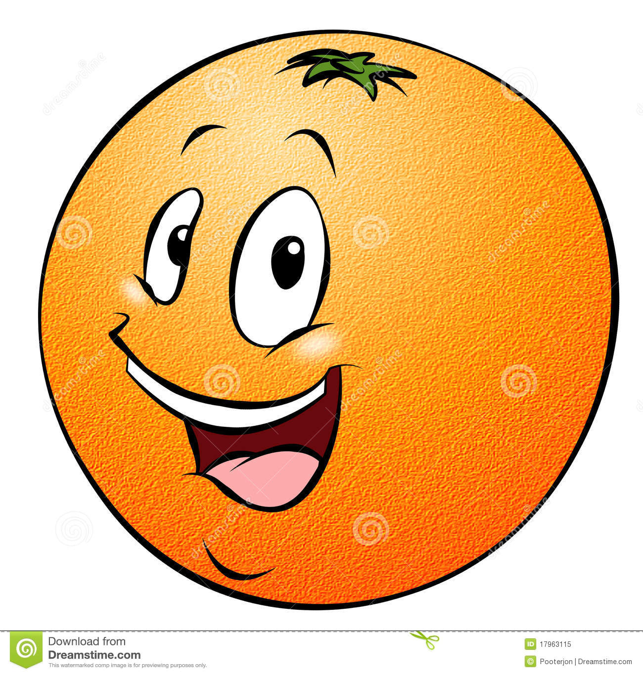 Cartoon Orange Royalty Free Stock Photo   Image  17963115
