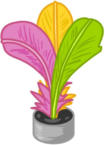 Clip Art Of A Magnetic Dart With Colorful Green Pink And Orange