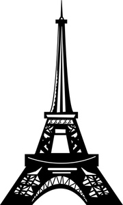 Paris Black And White Clipart - Clipart Suggest