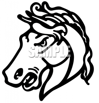 Clipart Picture Of A Mustang Horse School Mascot