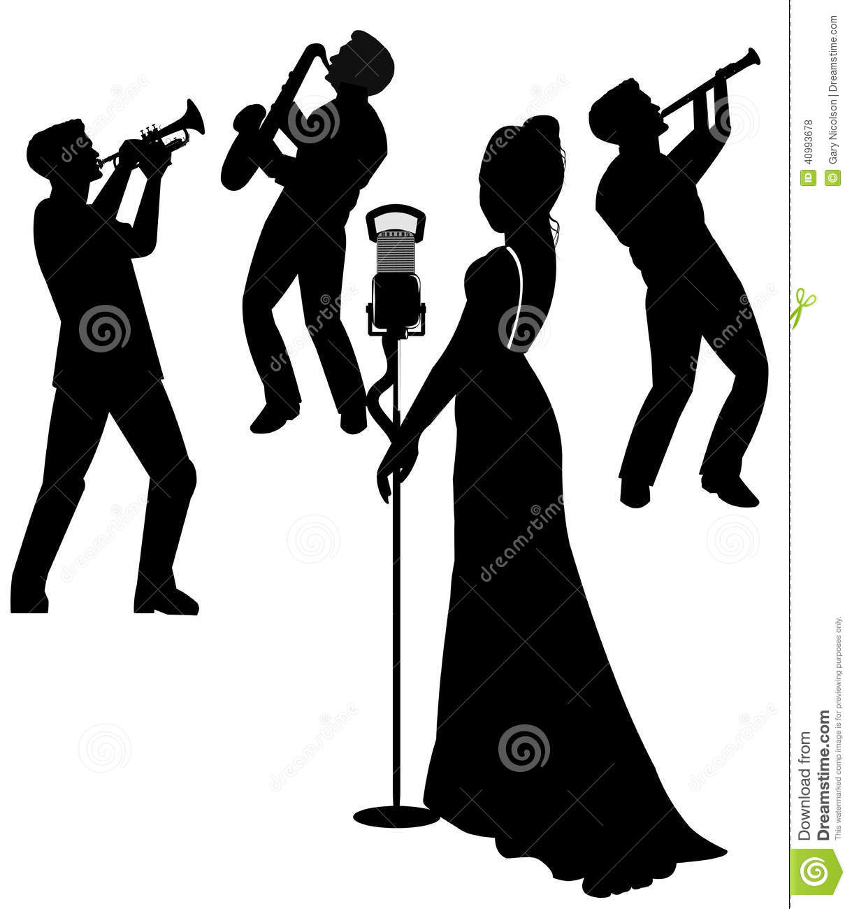 Female Singer On Stage In Silhouette Stock Illustration   Image