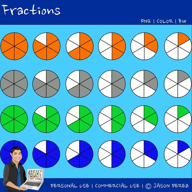 Fractions Representative Clipart Image Math Math Fractions Clipart