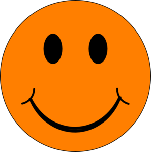 Happy Orange Face Clip Art At Clker Com   Vector Clip Art Online