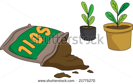 Illustration Of A Bag Of Soil With Pots   21775270   Shutterstock