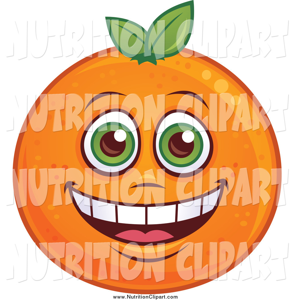 Larger Preview  Nutrition Clip Art Of A Happy Orange Character By John