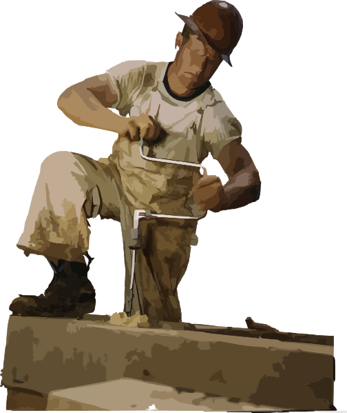 Manual Labor Clipart Carpenter Clip Art   Vector