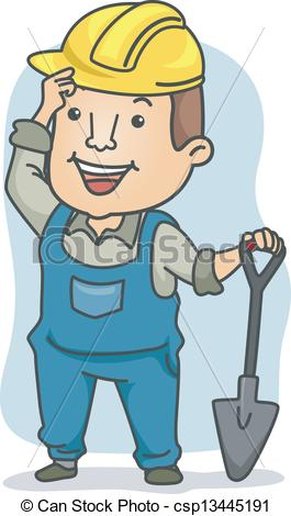 Manual Labor Clipart Clip Art Illustration