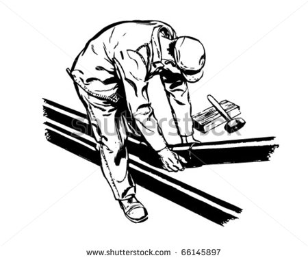 Manual Labor Clipart Retro Clipart Illustration