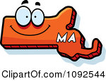 Massachusetts Clipart 1092544 Clipart Happy Orange Massachusetts State