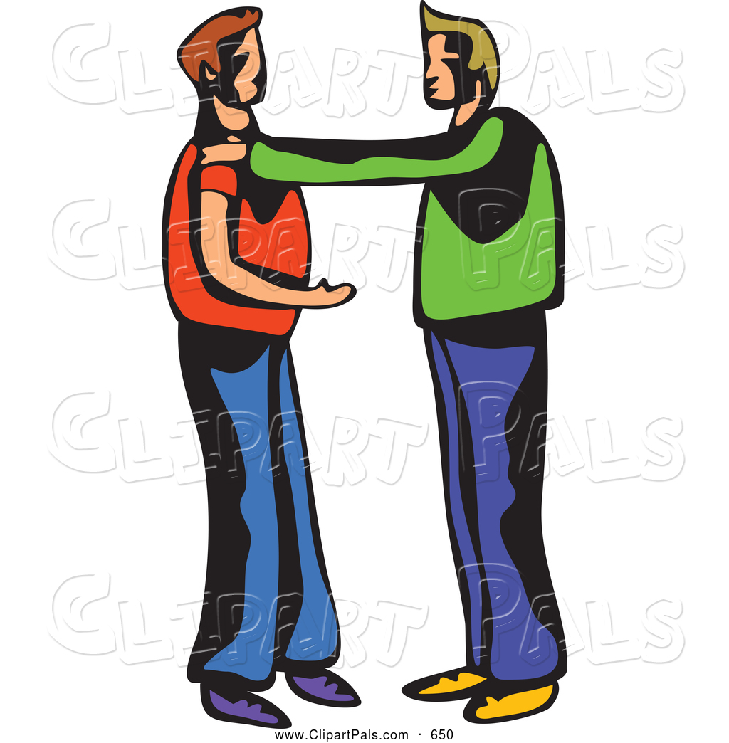 Pal Clipart Of Two Men Talking Or Arguing By Prawny    650