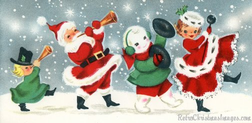 Retro Christmas Images 1950 S 60 S Stock Art Of Baby Boomer Holiday