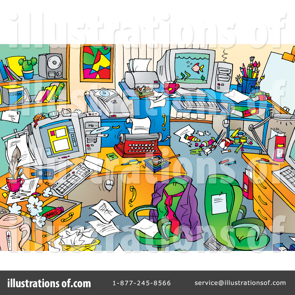 Royalty Free  Rf  Office Clipart Illustration By Alex Bannykh   Stock