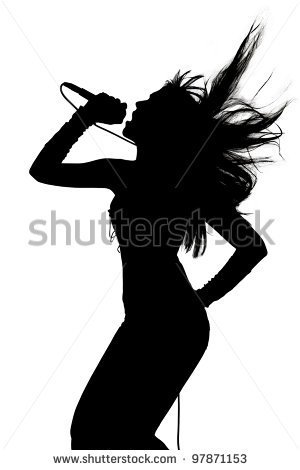 Singer Silhouette Stock Photos Images   Pictures   Shutterstock
