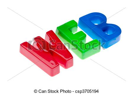 Stock Photo Of Plastic Toy Magnetic Letters Spelling Web   Online