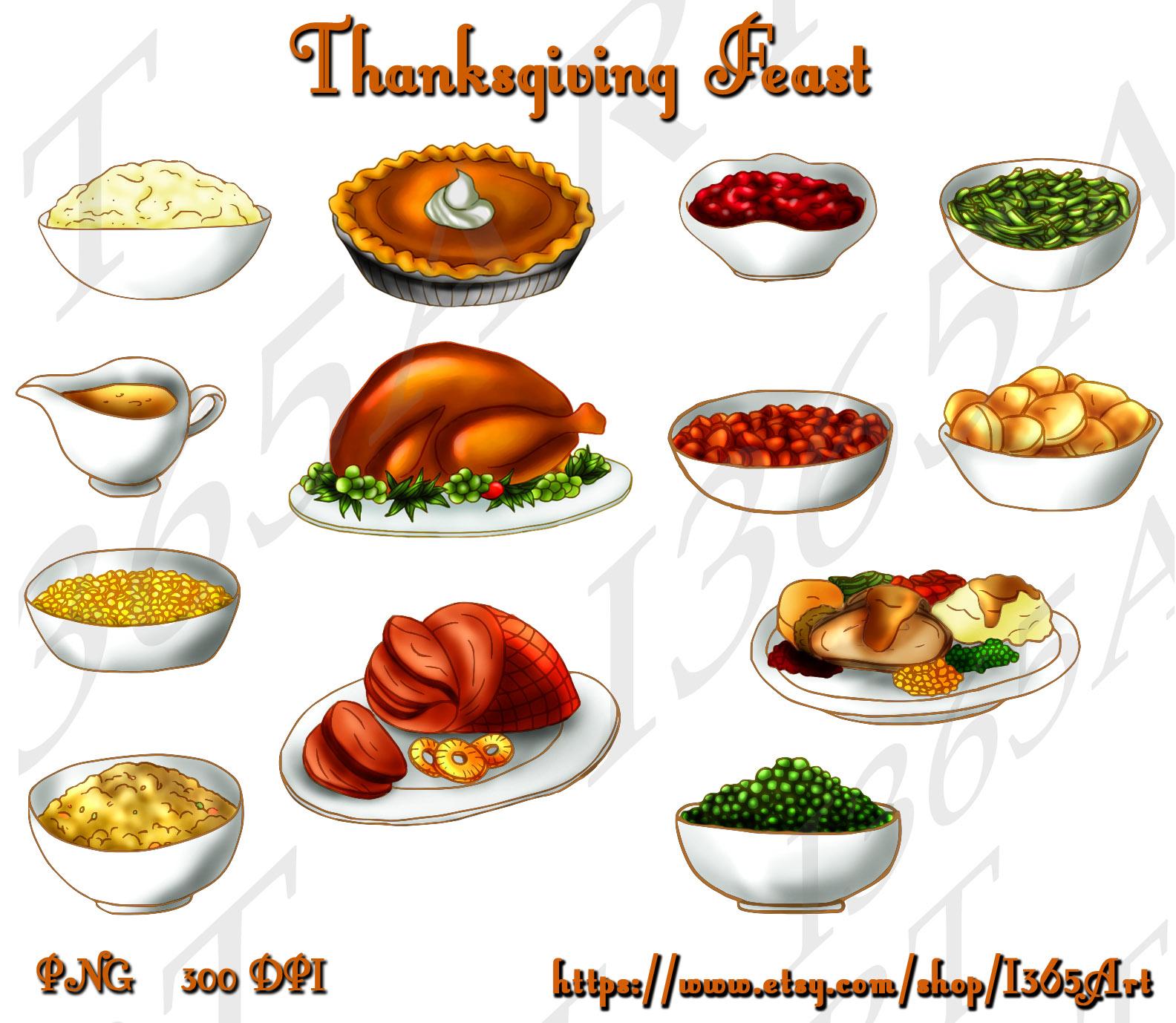 Thanksgiving Food Clipart Thanksgiving Dinner Banner 150x150 Seasonal Clipart