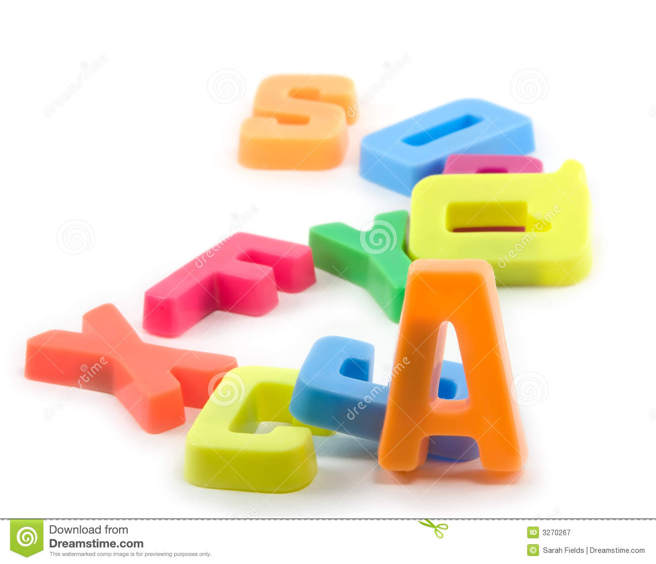 Toy Magnetic Letters On White Background
