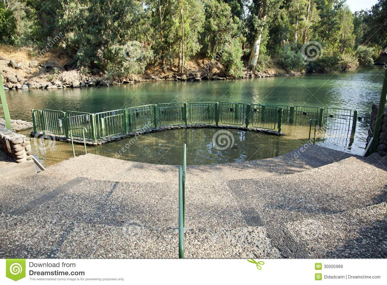 View Baptismal Place Jordan River Israel River S Water Eventually