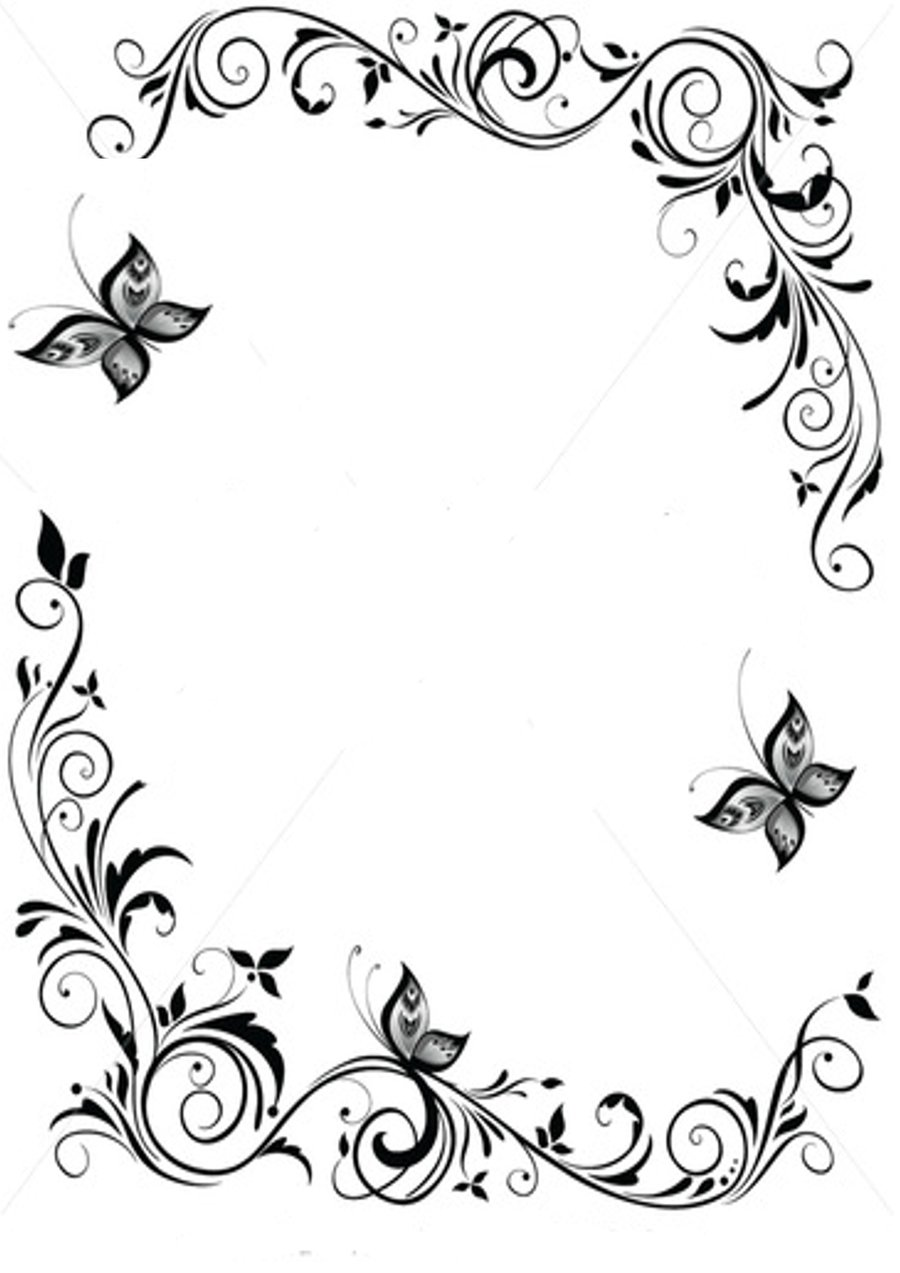 14 Picture Butterfly Borders Free Cliparts That You Can Download To