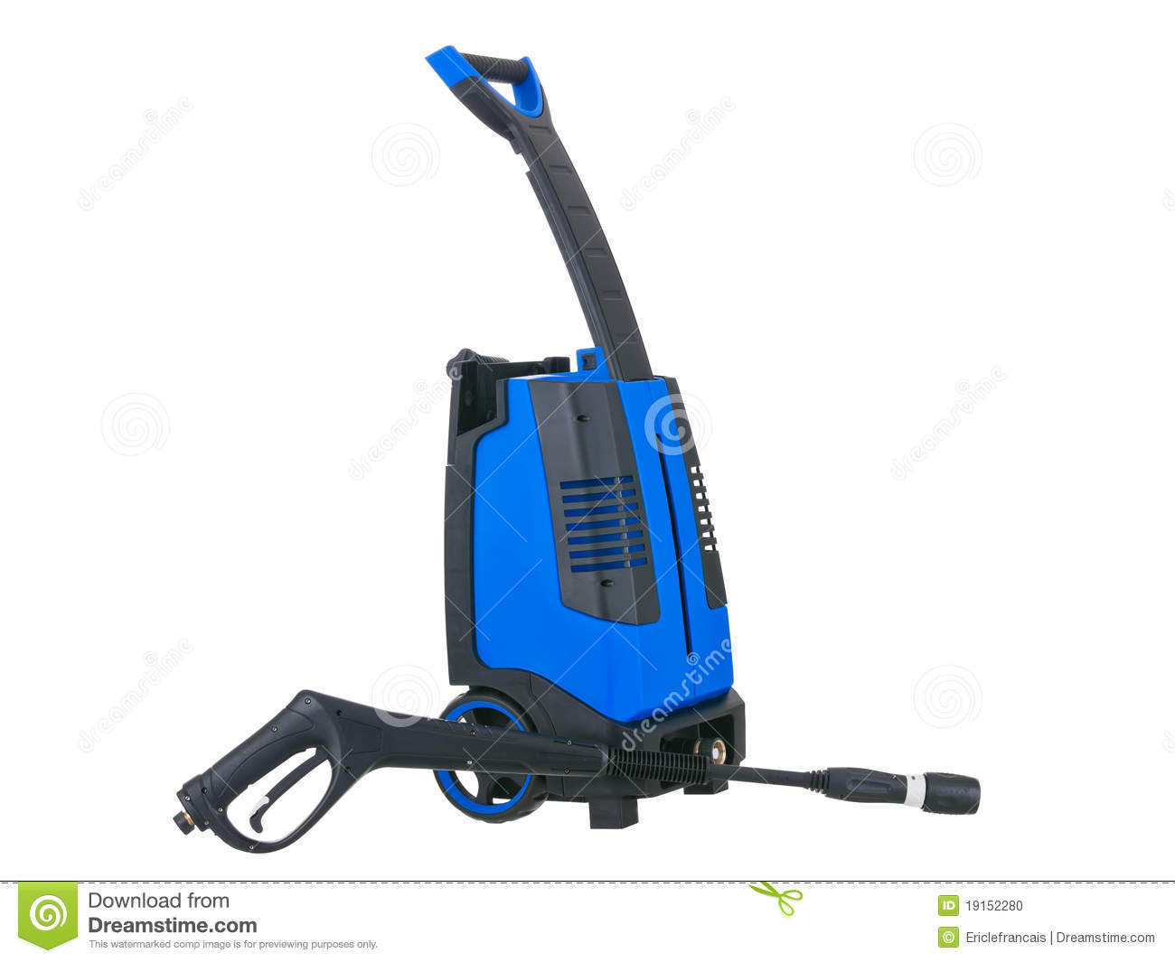 Blue Pressure Portable Washer Gun Down On Stock Photo   Image
